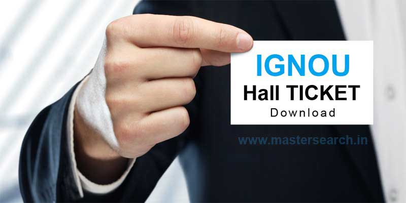 Download Ignou Hall Ticket Online