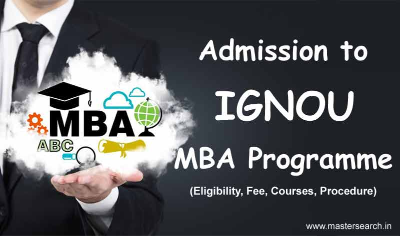 Ignou MBA Admission, Ignou Distance MBA Admission