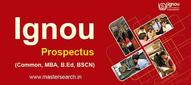 Ignou Prospectus pdf