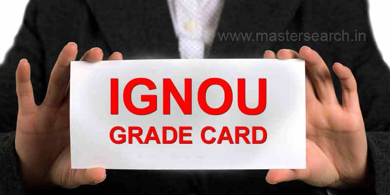 Ignou Grade card update