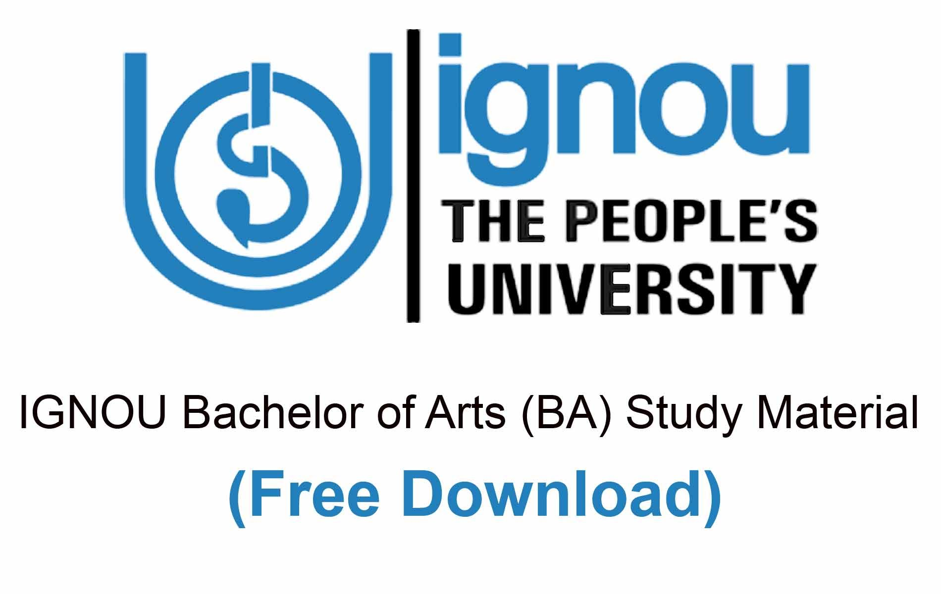 ignou ba study material download free