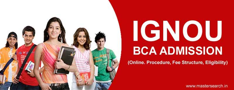Ignou BCA Admission, Ignou BCA Online Admission