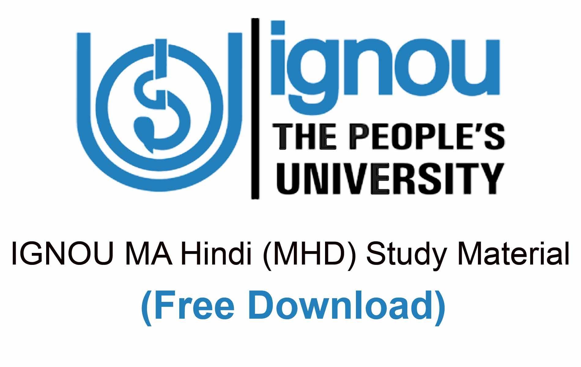 IGNOU MA Hindi Study Material