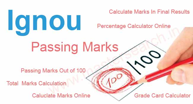 Calculate Ignou Passing marks