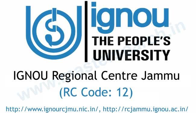 university ignou kashmir