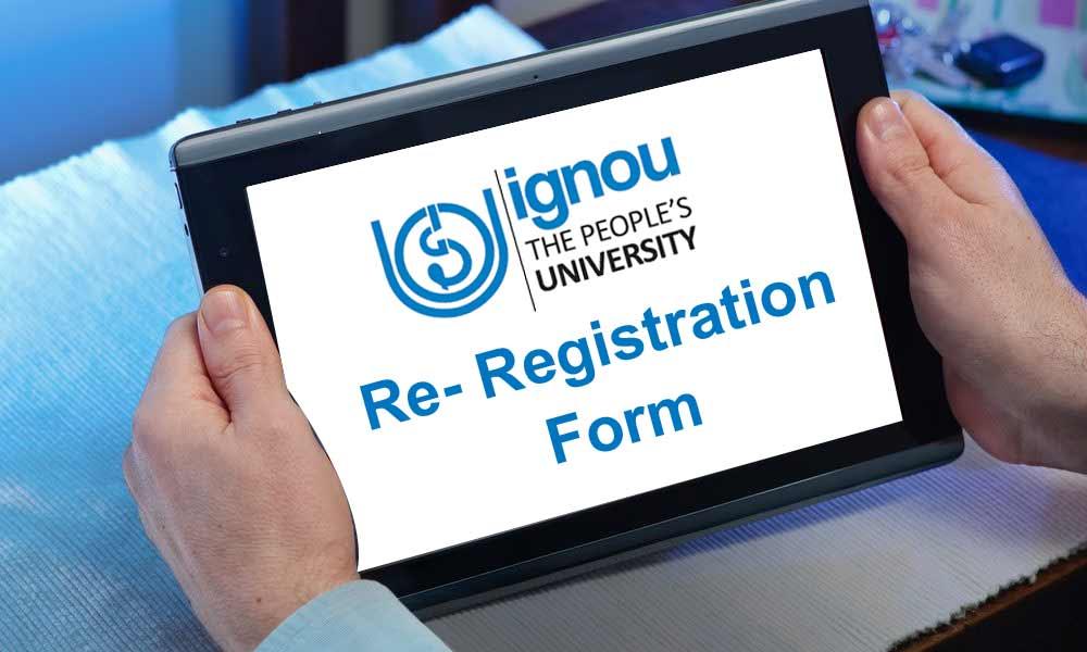 ignou re registration form