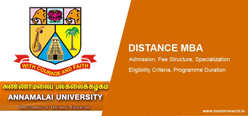 Annamalai University Distance MBA Admission
