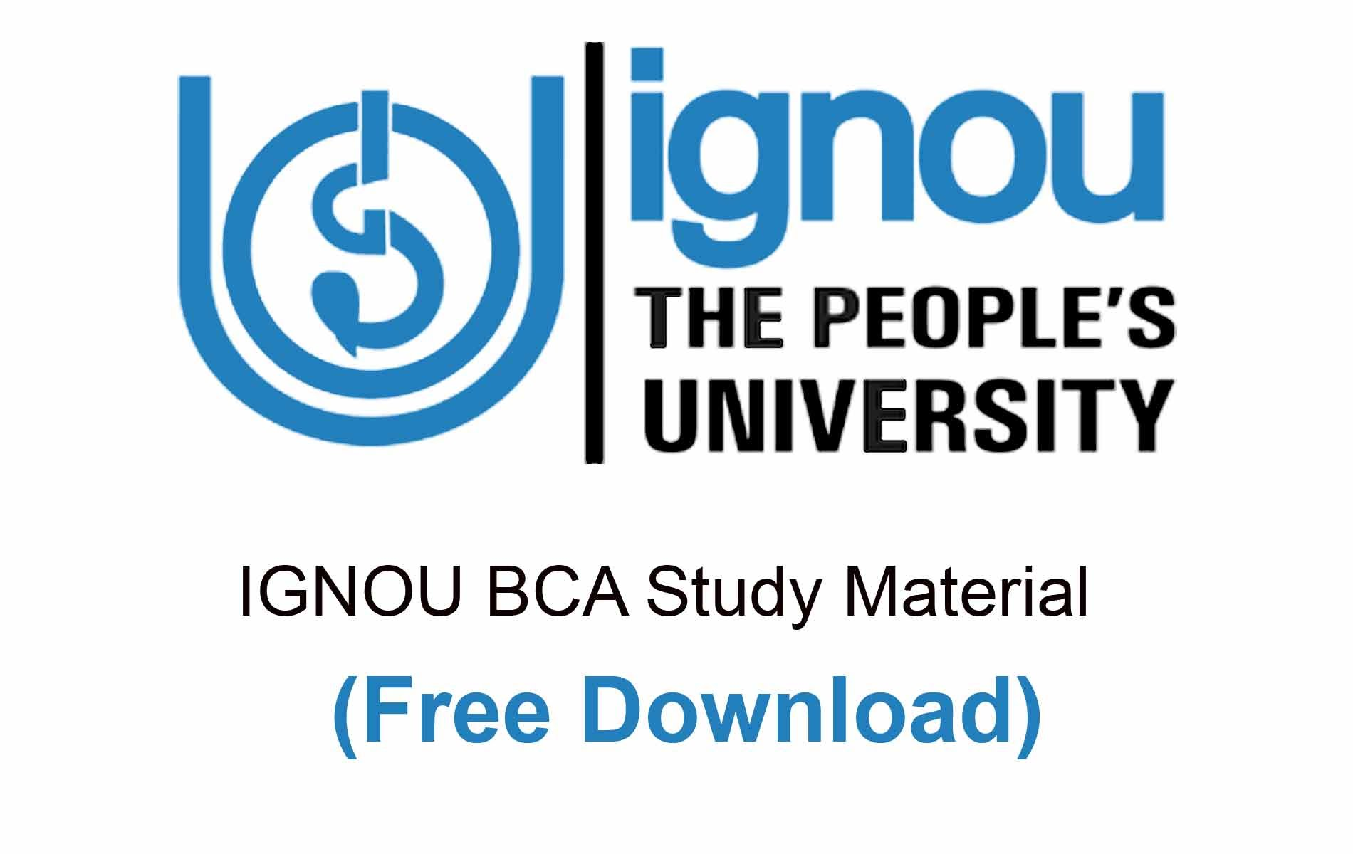 IGNOU BCA Study Material free download