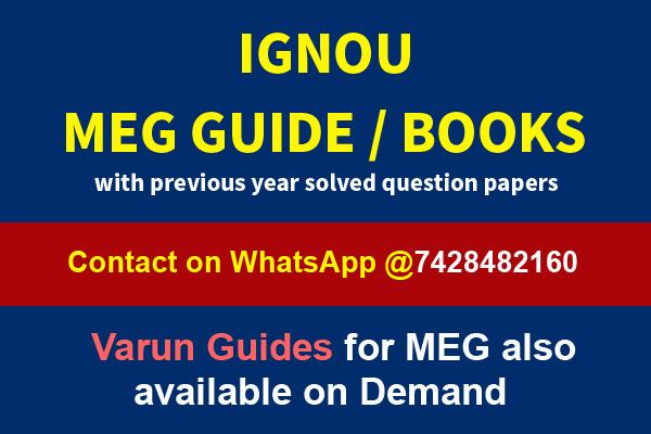 IGNOU MEG Books