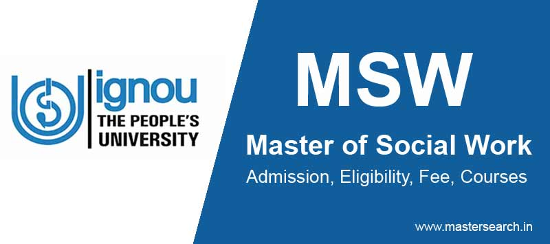 Ignou MSW Admission Online