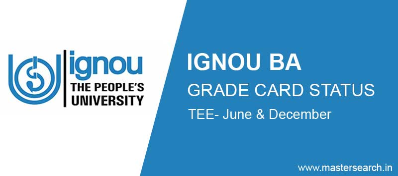 Ignou BA Grade Card