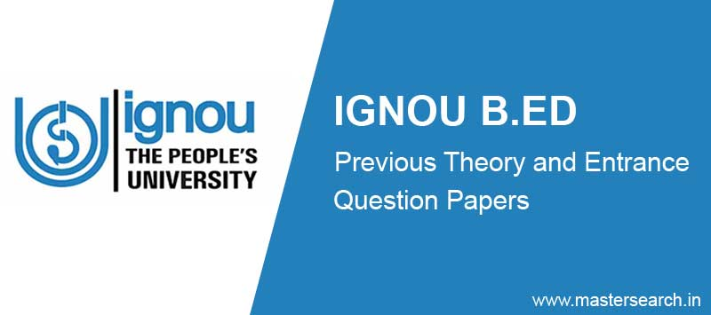Ignou B.Ed Previous papers