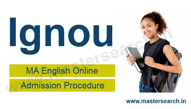 Ignou MA English Online Admission Procedure