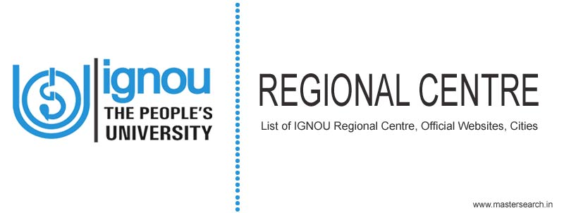 ignou regional centre code, list, websites