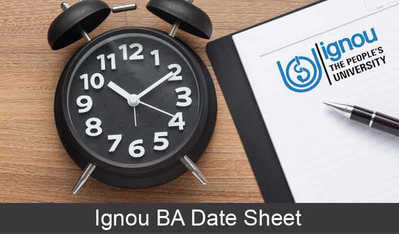 ignou ba date sheet download, ignou bdp date sheet