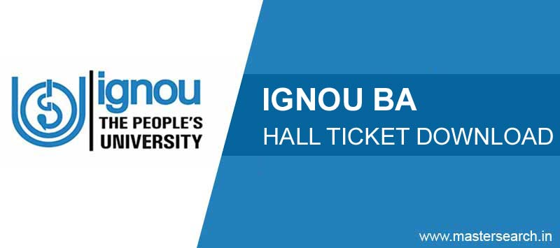 download ignou ba hall ticket admit card