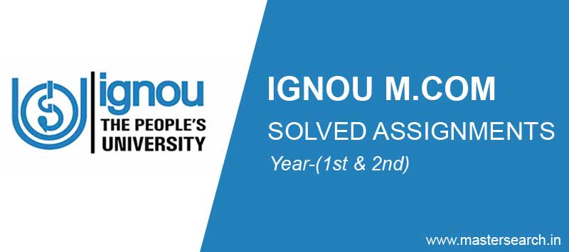 ignou m.com solved assignments free download
