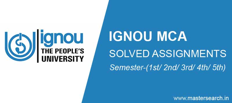 ignou mca solved assignment download free