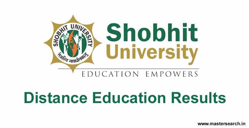 shobhit university distance educatin result