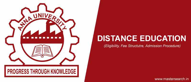 Anna University Distance Education courses
