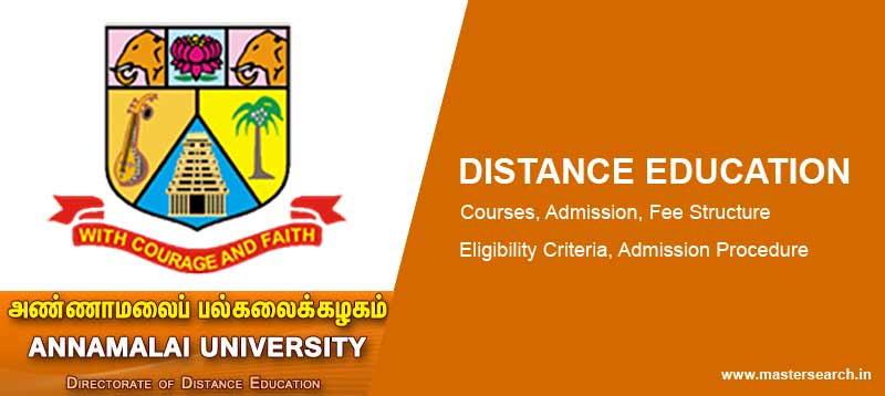 Annamali University Distance Education Admission