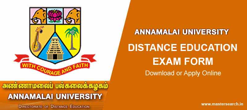 Annamali University Exam Form, Annamali University Online Exam Form