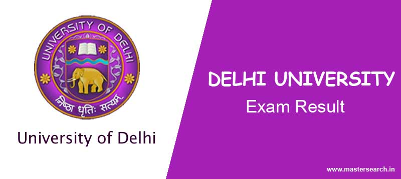 Delhi University Result Online