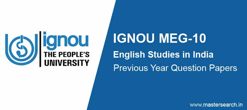 Download Ignou MEG 10 Question Paper Online