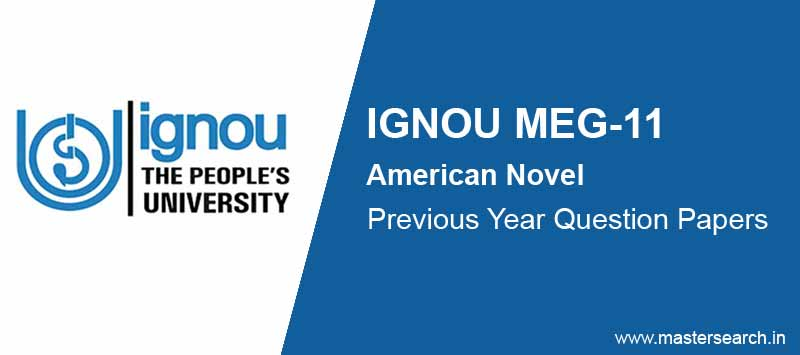 Download Ignou MEG 11 Question Paper Online
