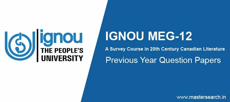 Download Ignou MEG 12 Question Paper Online