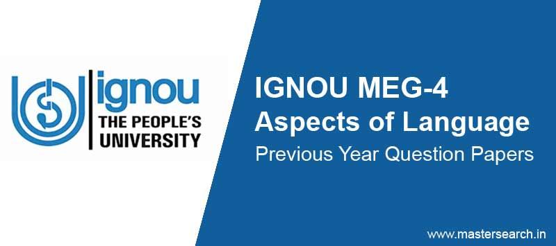 Download Ignou MEG 4 Question Paper Online