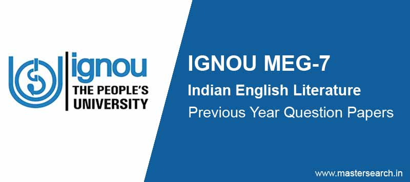 Download Ignou MEG 7 Question Paper Online