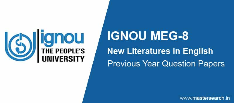 Download Ignou MEG 8 Question Paper Online
