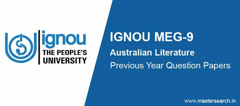 Download Ignou MEG 9 Question Paper Online