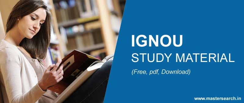 Pdf ignou study material