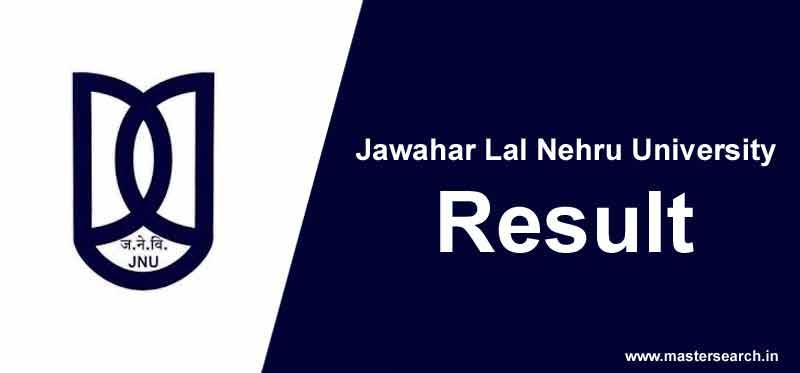 jnu result, jnu entrance result online