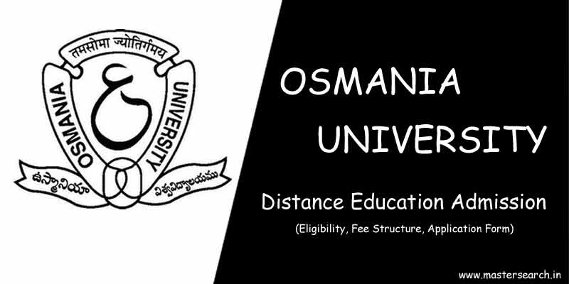 Osmania University Distance Education Courses Offered