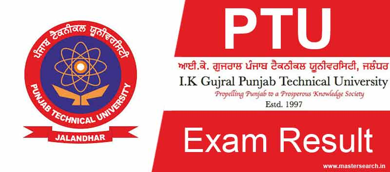 PTU Result online, www.ptu.ac.in result