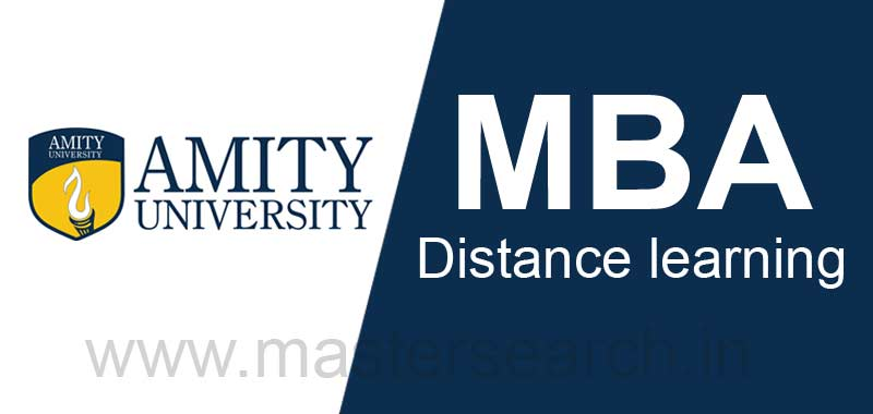 Amity University Distance MBA learning