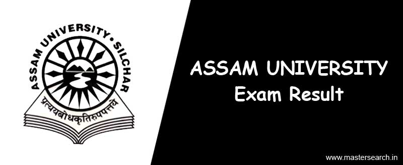 Assam University Result check