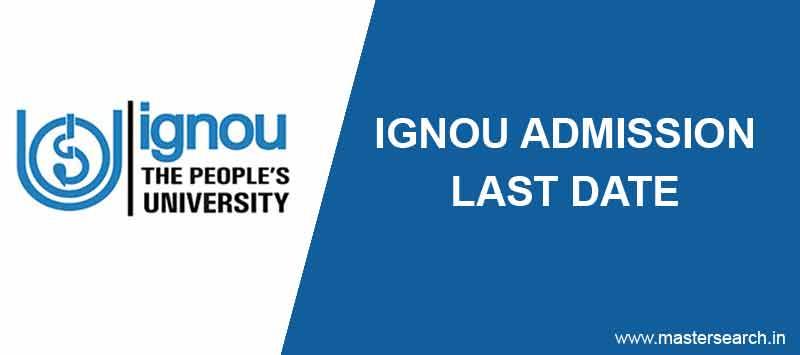Ignou Admission Last date notification online