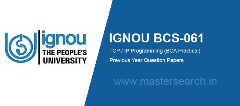 Ignou BCS-061 Question Paper