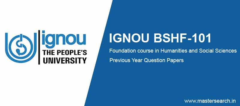Ignou BSHF 101 Question Papers solved