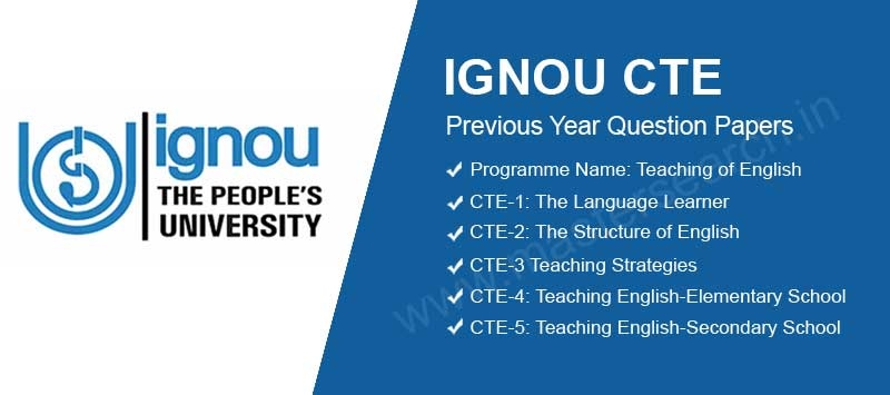 Ignou CTE Question Papers Download