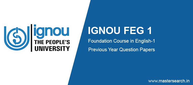 Ignou FEG 1 Question Papers solved