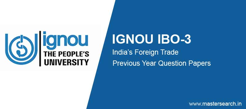 Ignou IBO 3 Question Papers free download
