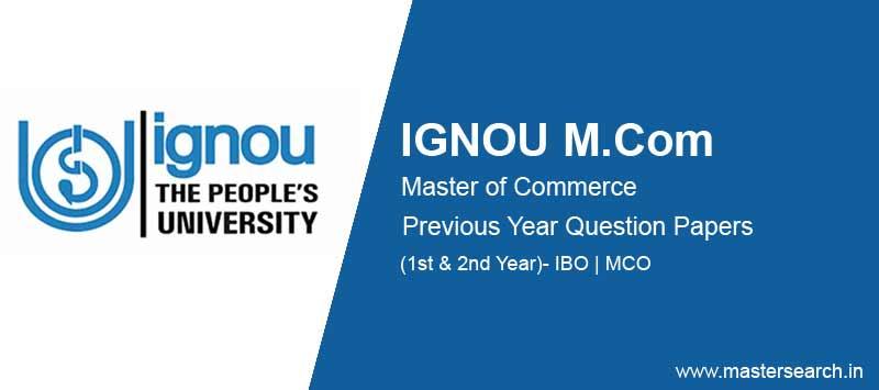 Ignou M.Com Question Papers free download