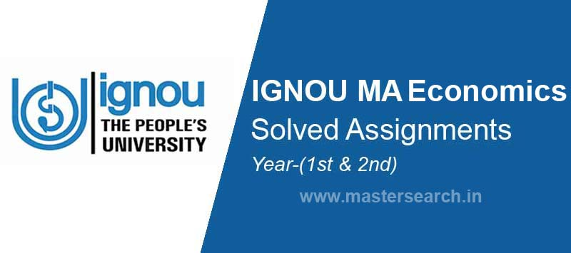 Ignou MA Economics Solved Assignments download