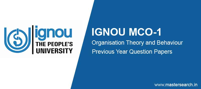 Ignou MCO 1 Question Papers free download