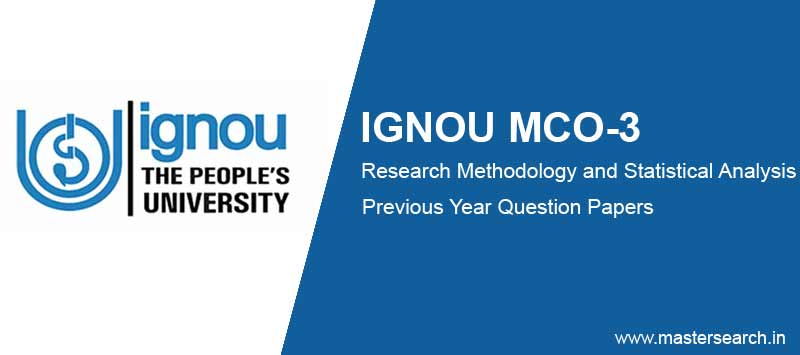 Ignou MCO 3 Question Papers free Download